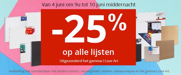 -25% op de doeken