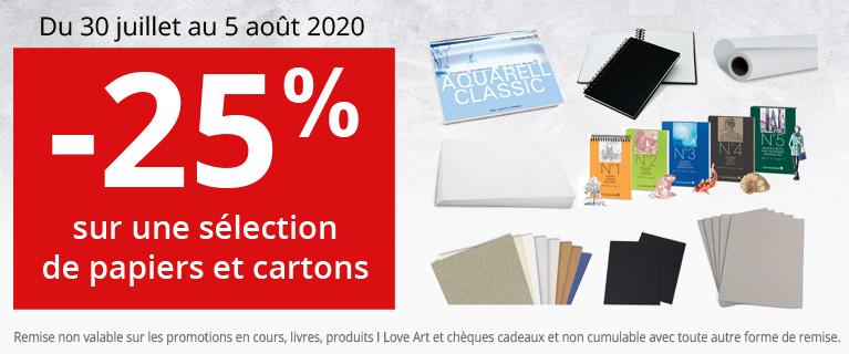-25% sur les papiers et cartons Gerstaecker