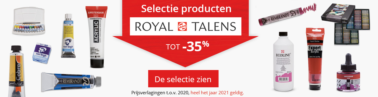 Royal Talens tot -35%