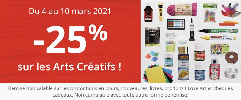 -25 % sur Art Créatif