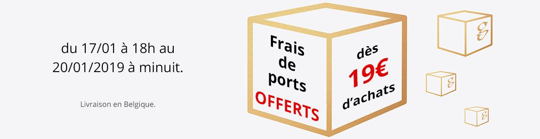 Frais de port offerts dès 19,00€