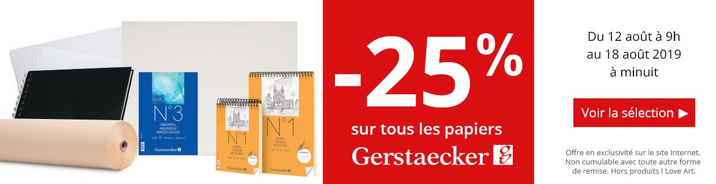 -25% sur les papier Gerstaecker