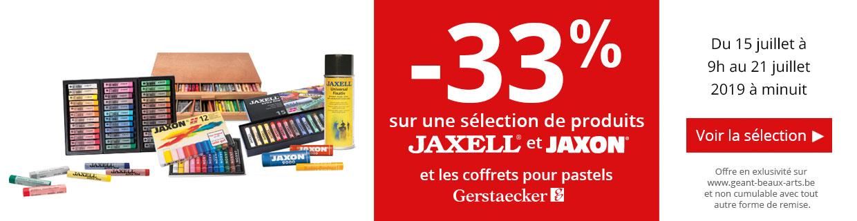 -33% sur tous les pastels Jaxell et Jaxon