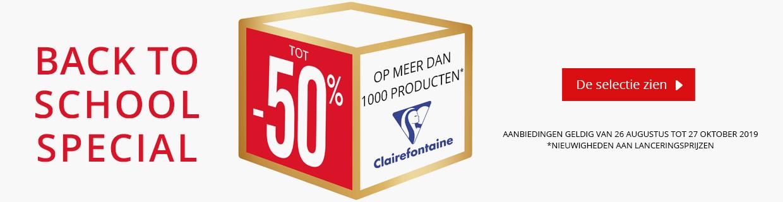 Tot -50% op een selectie Clairefontaine producten