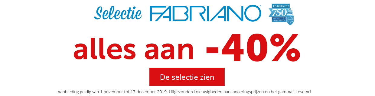 Fabriano - alles aan -40% - Mag40
