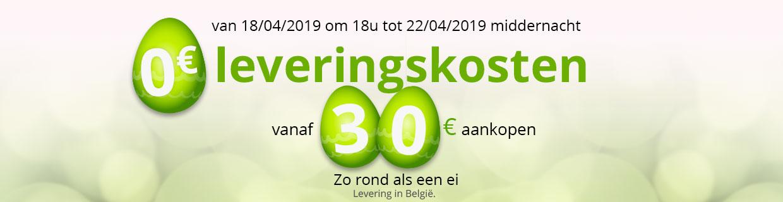 0€ leveringskosten vanaf 30€ aankopen
