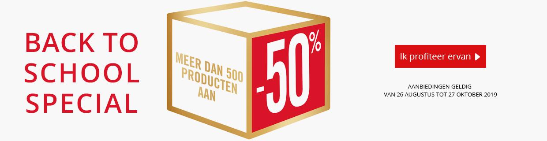 Mmeer dan 500 producten aan -50%
