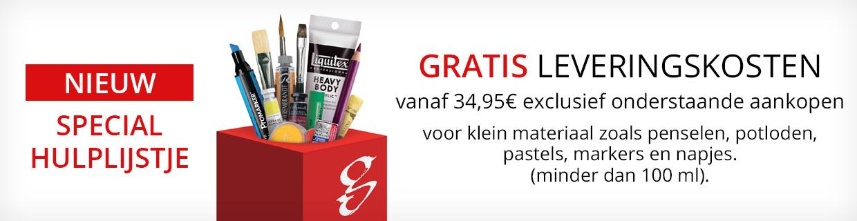 Gratis Leveringskosten vanaf 34,95€ Penselen
