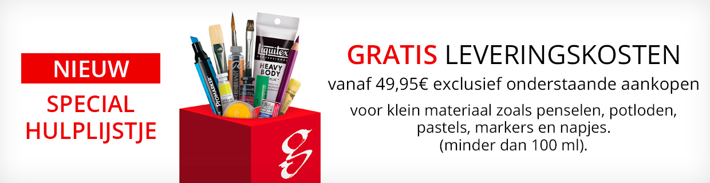 Gratis Leveringskosten vanaf 49,95€ Penselen