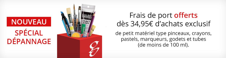Pinceaux frais de port offert à partir de 34,95€