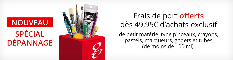 Pinceaux frais de port offert à partir de 49,95€