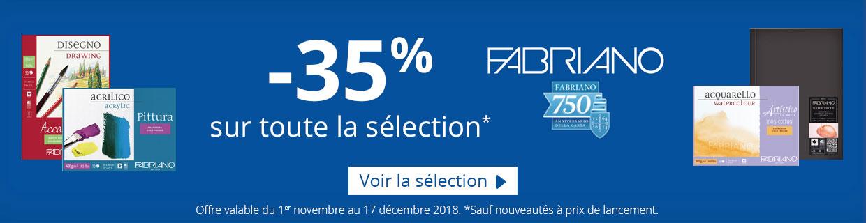 -35% sur Fabriano