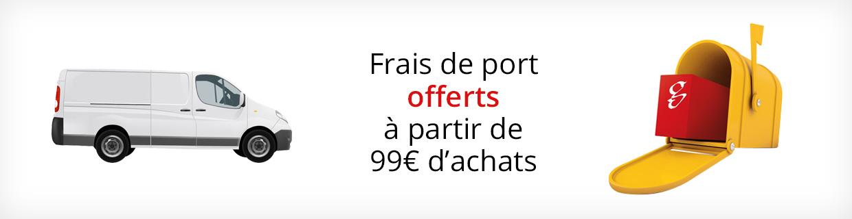Frais de port offerts dès 99€