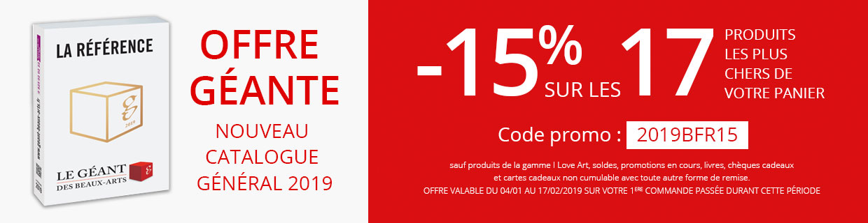 Offre Géante -15% sur les 17 produits les plus chers de votre panier